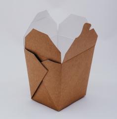 Крафт-коробка WOK для китайской лапши 105*90*105мм