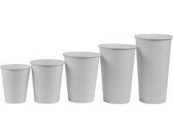 """Бумажный стакан 250 мл """"Белый"""""""